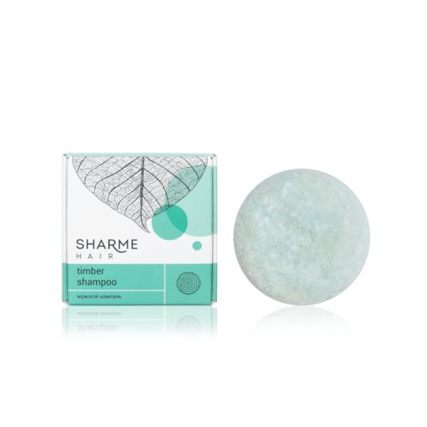 Натуральный твердый шампунь Sharme Hair Timber (древесный) 1