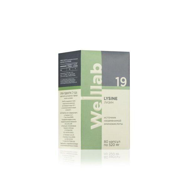 Welllab LYSINE, 80 капсул 3