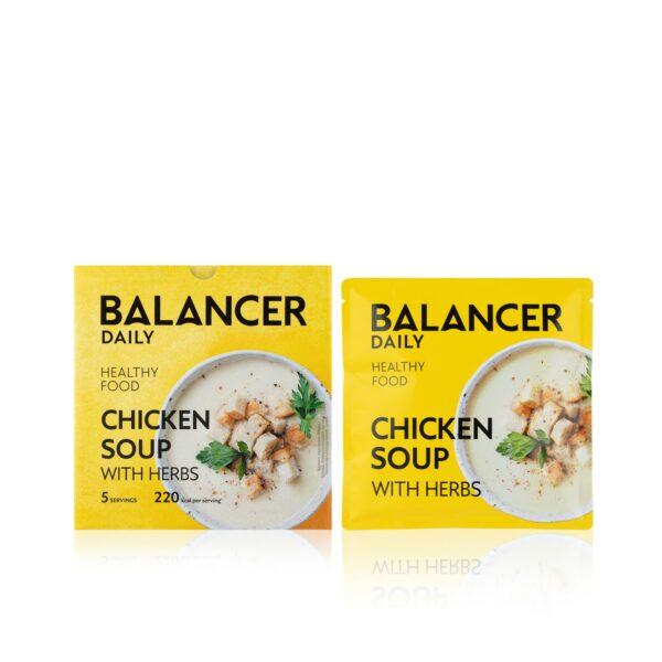 Коктейль BALANCER со вкусом Куриный суп с зеленью 5 шт 1