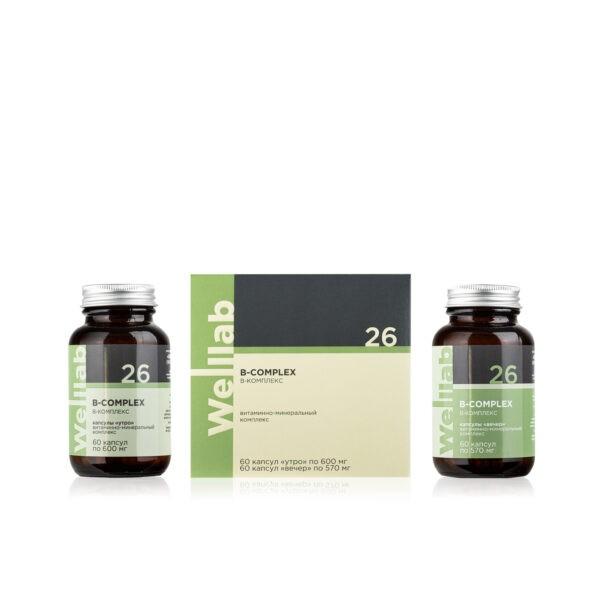Welllab B-complex, 2 упаковки по 60 капсул 1