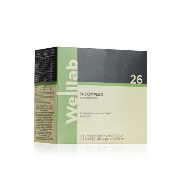Welllab B-complex, 2 упаковки по 60 капсул 4