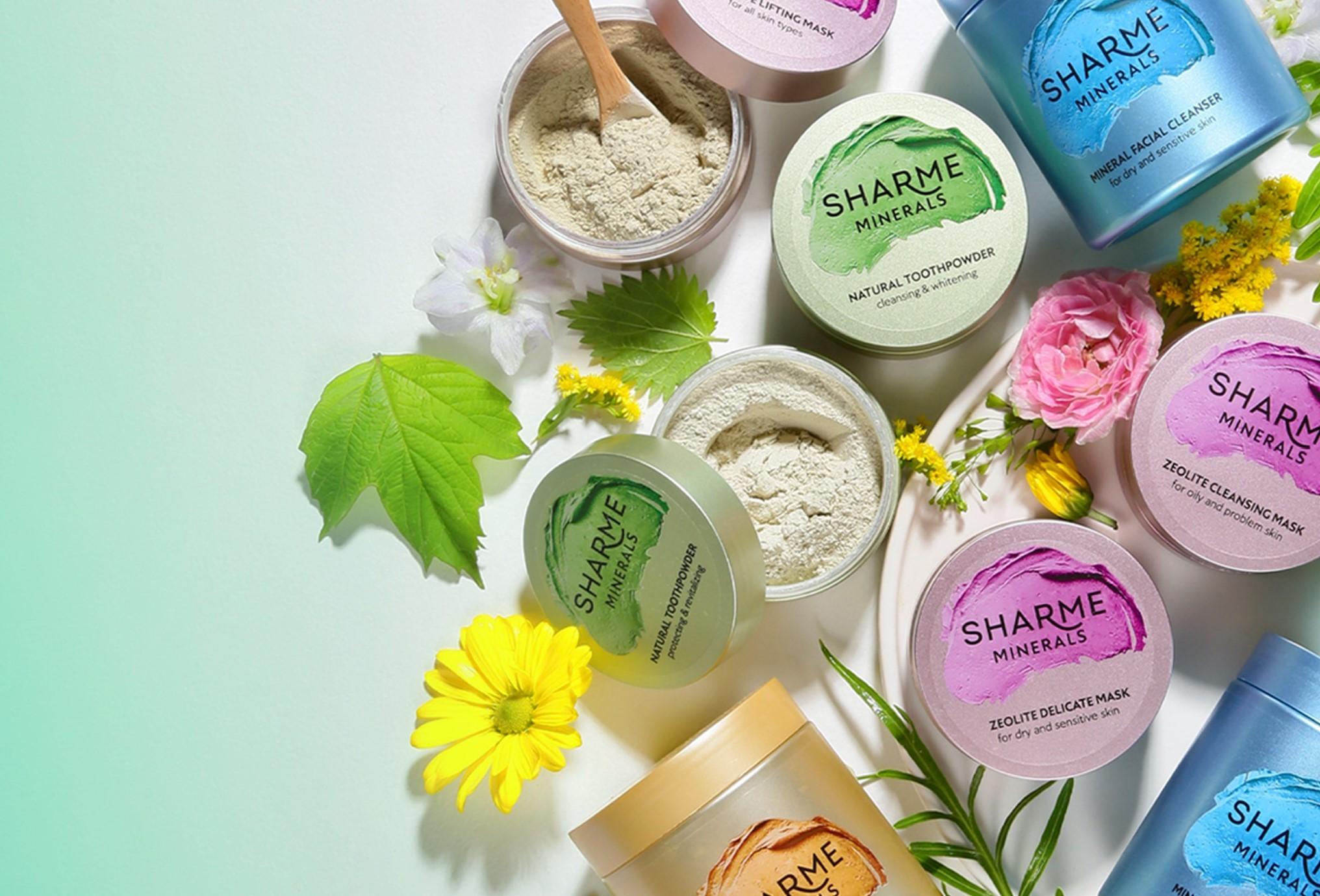 Sharme твердые шампуни, мыло, дезодоранты, эфирное масло, сухая и минеральная косметика, зубные пасты
