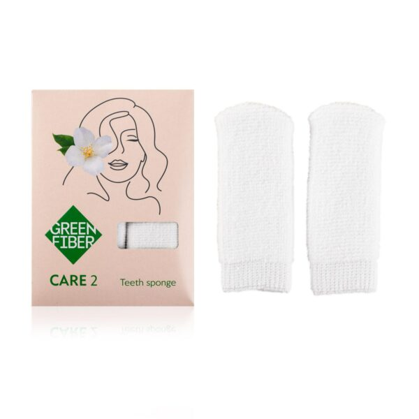 Спонжи для чистки зубов 2шт CARE 2, teeth sponge